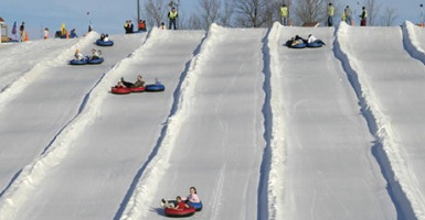 Mt bachelor sledding and tubing - central oregon sledding - sledding sunriver - bend sledding