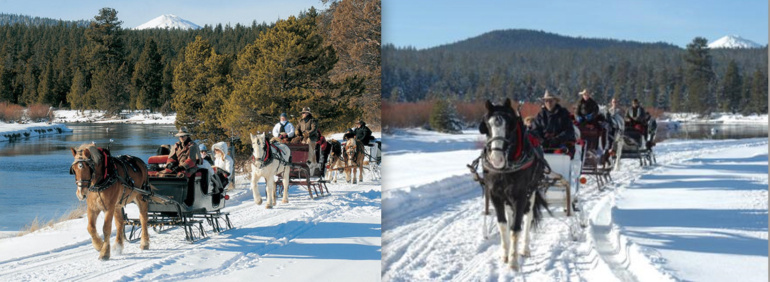 Sun River Ranch sleigh rides in central oregon serving bend, black butte ranch